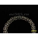 Серебряный мужской браслет валькирия 49 грамм 22 см