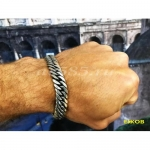 Серебряный мужской браслет кобра 58 грамм 21 см