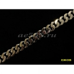 Серебряный панцирный браслет  21 см 45 грамм