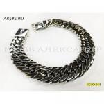 Серебряный мужской браслет кобра 75 грамм 21 см