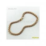 Золотой женский браслет бисмарк 17 см ширина 4 мм