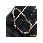 Золотой женский браслет бисмарк 18 см ширина 4 мм