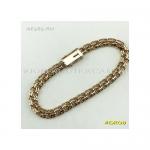 Золотой женский браслет бисмарк 17 см ширина 5,5 мм