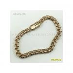 Золотой женский браслет бисмарк 18 см ширина 5,5 мм