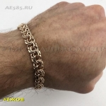 Золотой мужской браслет БИСМАРК 21 см ширина 8 мм
